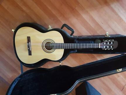 Martinez guitar brand new with hard case.