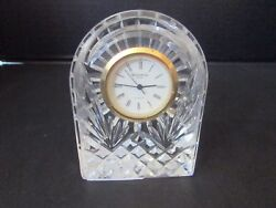 WATERFORD CRYSTAL CLOCK 3.5 TALL LISMORE DOMED SHAPED NEEDS BATTERY IRELAND