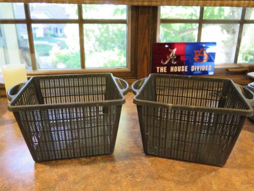 Aquatic Planters Black Medium Large Baskets Garden Pond Plastic Planting x2 Used