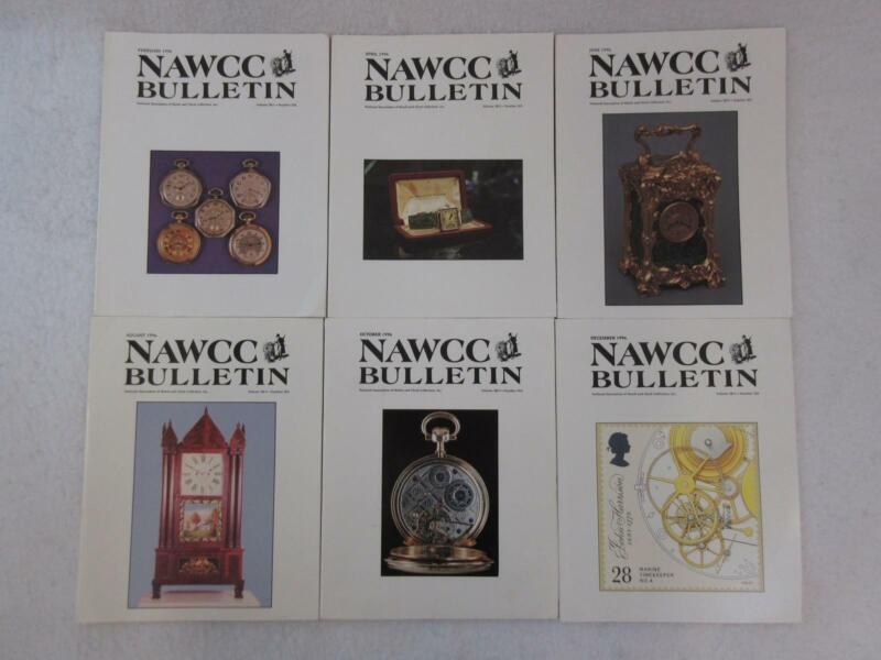 Lot of 6 NAWCC BULLETIN Association of Watch & Clock Collectors 1996