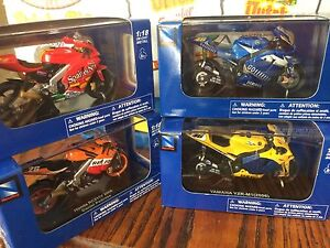 Four Superbike champions 1:18 scale