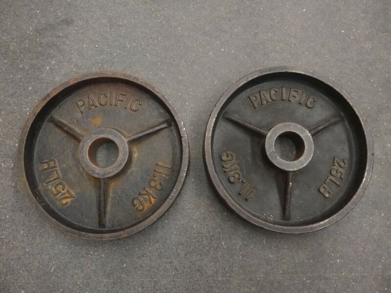 Pacific Olympic 25 lb Deep Dish Vintage Weight Plates