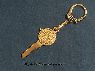Vintage 24Kt Gold Mercury Messenger Key Blank   Key Chain H16 1127M 1952 1958