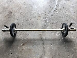 Straight bar with weights