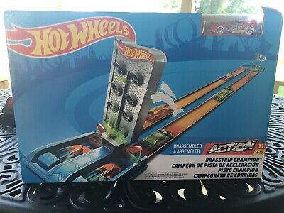 Hot Wheels Race Track Dragstrip Champion Play Set