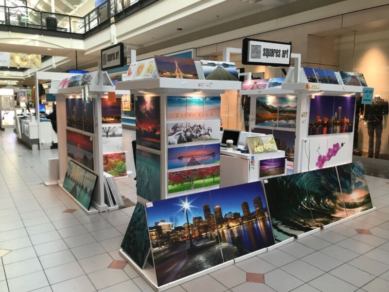 MALL RETAIL KIOSK - ART PAINTINGS GALLERY PROMOTIONS. 10
