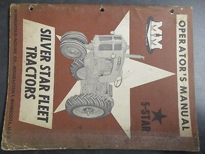 Minneapolis Moline 5 Star Tractor Operators Manual
