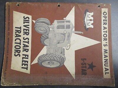 Minneapolis Moline 5 Star Tractor Operators Manual