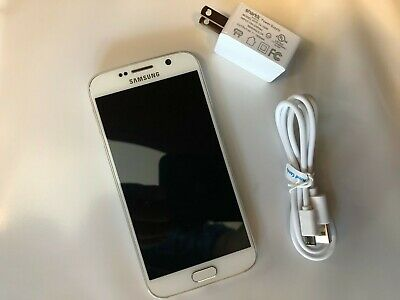 Samsung Galaxy S6 SM-G920V - 32GB - (Verizon) Unlocked Smartphone - White Pearl