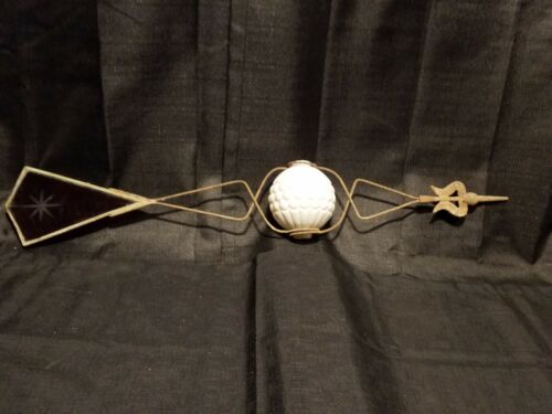 antique snowflake red glass tail wire ball arrow for weathervane