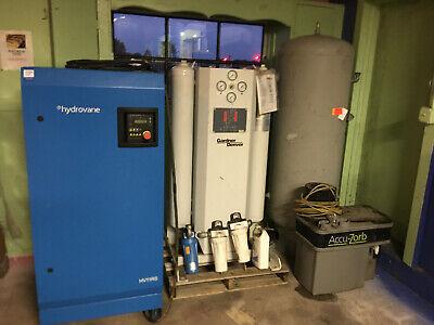 Hydrovane Hv11rs Compressor System W Air Dryer Receiving Tank Oil Separator