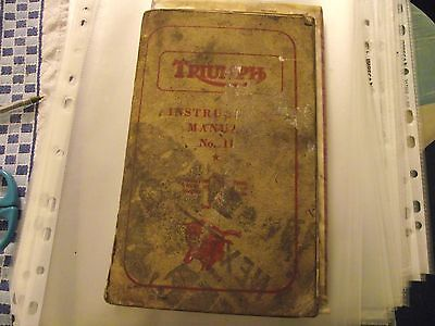 Triumph Instruction Manual No 11 for Triumph Speed Twin, Thunderbird, Tiger 100,