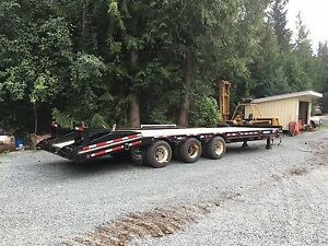 2010 Big Tow triple axle equipment trailer