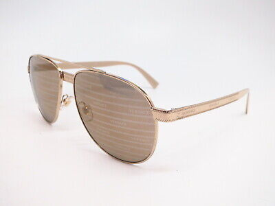 Authentic Versace VE 2209 1252/V3 Pale Gold Brown Tamp Silver Gold Sunglasses
