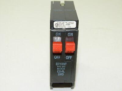Bryant Bd2020 Twin 20a 20a Brd 120240v Circuit Breaker Surplus 1yr Warranty