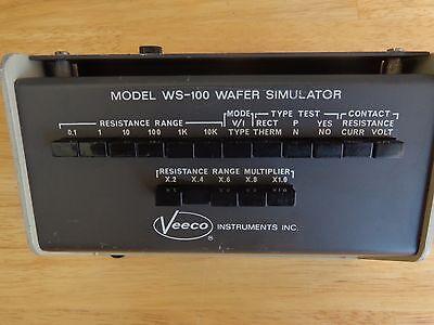 Veeco Instruments Ws-100 Wafer Simulator