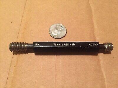 7/16-14 UNC 2B Thread Plug Gage Gauge, Go / No Nogo, HIP branded, 7/16 14