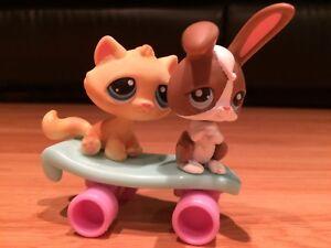 Littlest Pet Shop Pet Pairs Rabbit and Cat #121, 122 (2006)