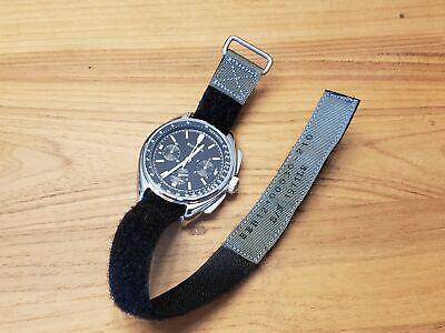 NASA replica watch band - 19, 20mm strap - GRAY - For Speedm