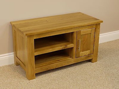 SOLID OAKLAND CHUNKY OAK TV STAND / DVD PLASMA VIDEO CABINET UNIT FURNITURE