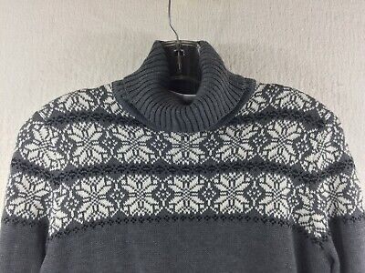 NWT Breckenridge Christmas Snowflake Gray Turtleneck Sweater Maternity Size S ()