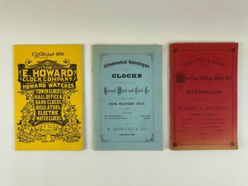 Watch and Clock (3) Catalog Set, E. Howard, Waltham. 204H