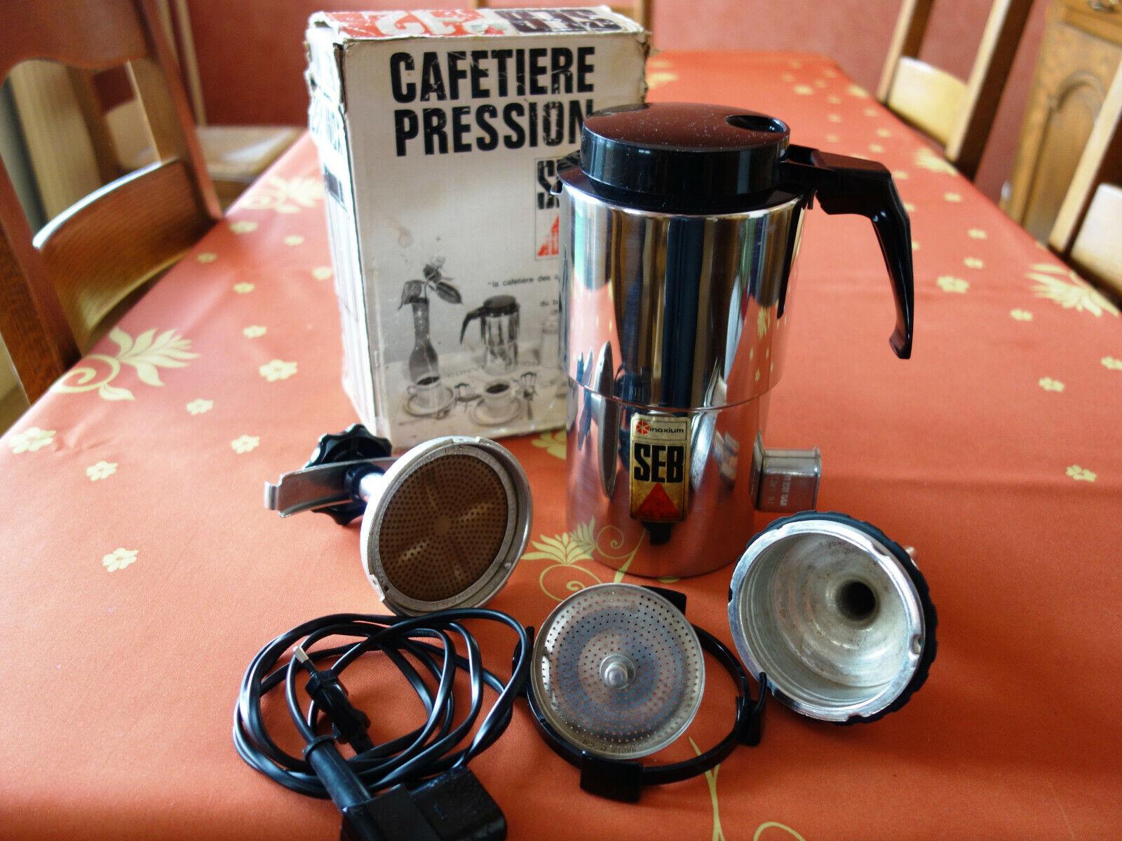 Cafetière moka electrique 6 décilitres seb en inox 18.10 en excellent état.
