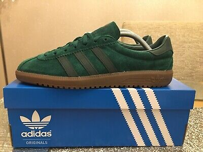 Adidas Bermuda Size 8 Green & Gum Retro 80s  football casuals deadstock