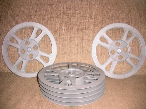 SIX- 1200ft 16mm Plastic Film REELS - NEW