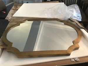 Brand new aged gold mirror 46 x 30 x 2