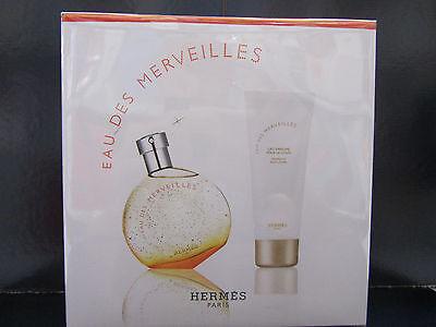 Eau Des Merveilles Hermes Perfume Women 2 Pcs Set 1.6oz EDT + 2.5oz Body Lotion Eau Des Merveilles Body