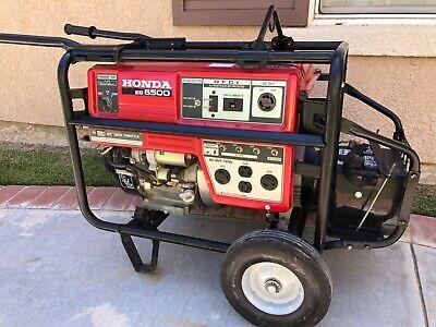 Used Honda Eb 6500 Portable Generator W Brand New Battery For Electronic Start