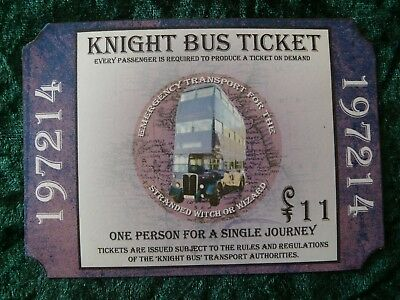 Harry Potter - Personalised KNIGHT BUS TICKET