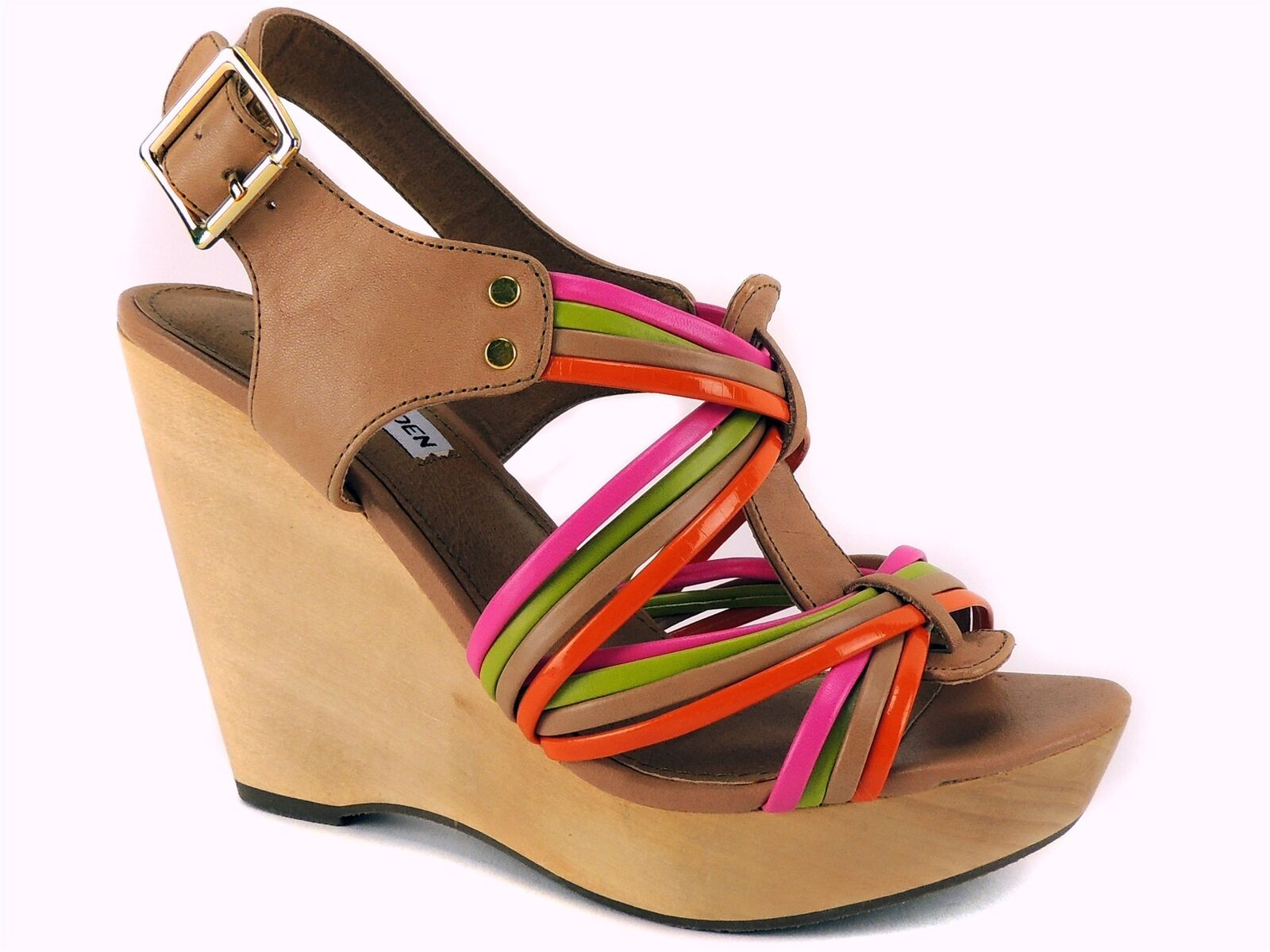 Madden Girl Women's Tampaa Wedge Sandals Multi Color Leather