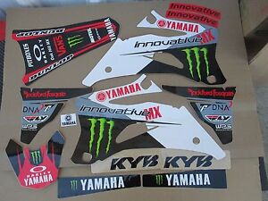 TEAM INNOVATIVE MX WHITE GRAPHICS YAMAHA YZ250F YZ450F  2006 2007 2008 2009
