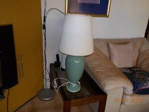 Pair of Green Ceramic Base Table Lamp Booragoon Melville Area Preview