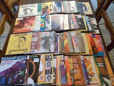 "Lot de 100 Disques / Vinyles - 7"" - 45 tours Anglais - English - 5 photos - (18)"