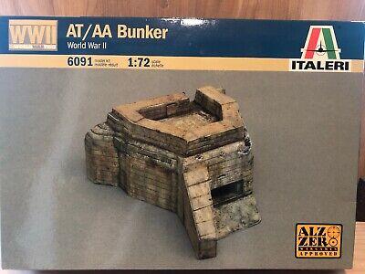 WWII AT/AA BUNKER WORLD WAR II ITALERI 6091