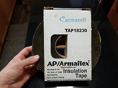 New Armaflex Tape Insulation  2 In X 30 Ft - Super Fast Shipping First Class.