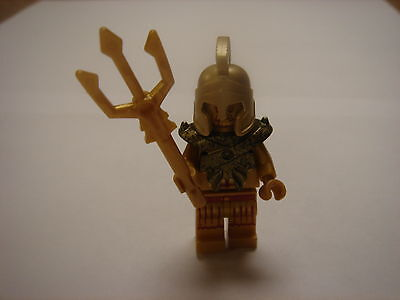 Lego Atlantis Gold Minifigure Temple King Statue With Weapon 9785 New
