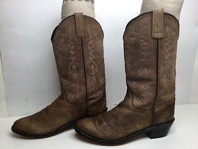 VTG WOMENS UNBRANDED COWBOY BROWN BOOTS SIZE 9