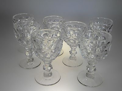 Imperial Glass Provincial Clear Wine Glasses Set of 7 (Vintage Made in Ohio)