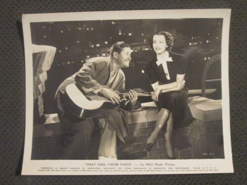 That Girl From Paris -  Original  Movie Photograph - Oakie - Lily Pons