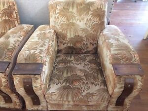 Art Deco vintage club lounge chairs set of two Queenstown Port Adelaide Area Preview