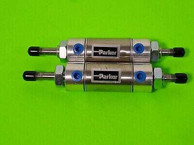 Parker 1psr00008975 Pneumatic Cylinder Used  Lot Of 2