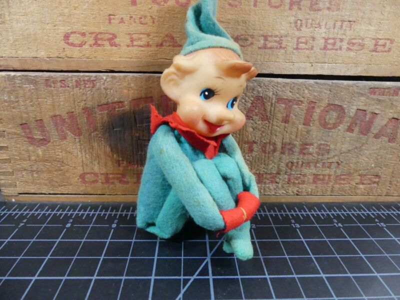 Vintage Christmas Elf Knee Hugger Green Felt