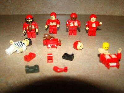 Vintage Mini Football Lego Action Figues 1970's 1980's Toy Magnet Game Rare Lot