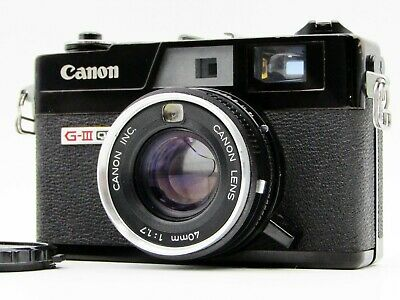 【Read!】 CANON Canonet QL17 GIII G3 Black Rangefinder Film Camera from JAPAN s237