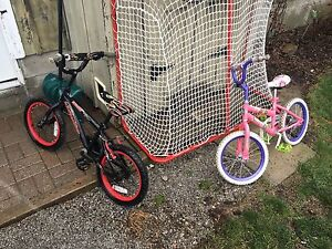 Two used kids bikes.  Both work great.