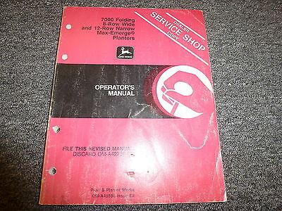 John Deere 7000 Folding 8 Wide 12 Narrow Planter Owner Operator Manual Oma45598